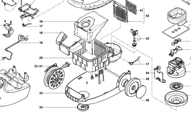 Мотор для пылесоса двигатель для